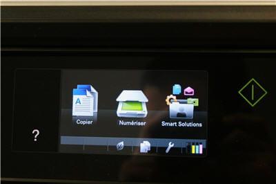le menu principal au démarrage de l'imprimante.