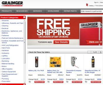 w.w.grainger est le 1er e-marchand us de la catégorie 'bricolage'
