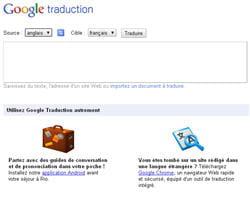 le service de traduction automatique de google