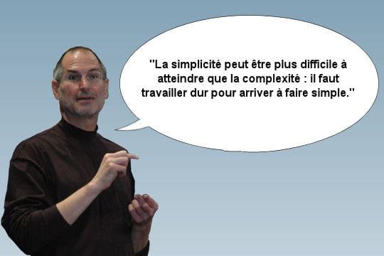 Steve Jobs et le besoin de simplicité