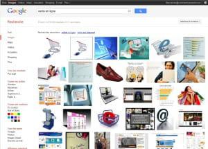 capture d'écran du moteur 'images' de google.fr