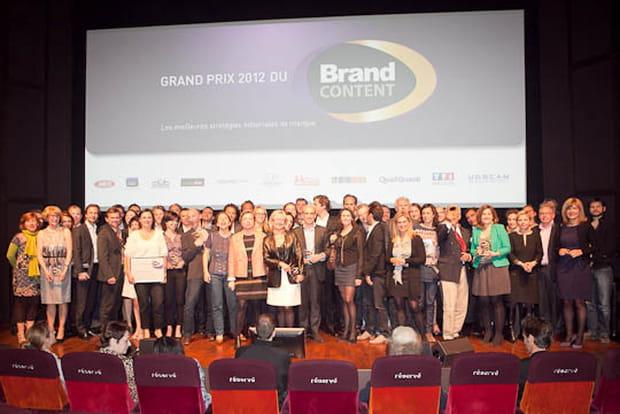 Lauréats grand prix brand content 2012