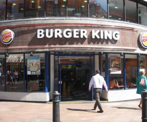 le restaurant burger kingsur leicester square àlondon.