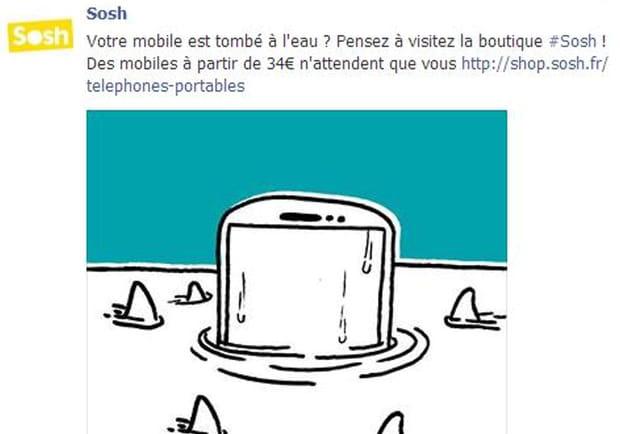 La publicité de Sosh tombe à l'eau