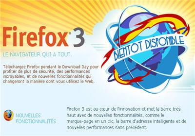 lancement de firefox 3