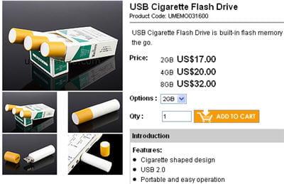 la usb cigarette flash drive.