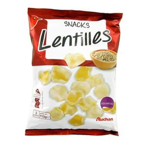 les chips de lentilles d'auchan.