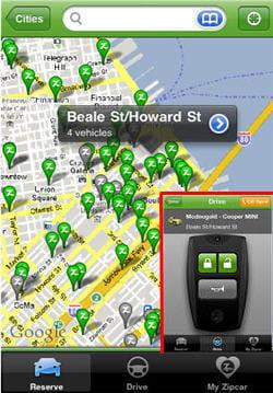 l'application zipcar