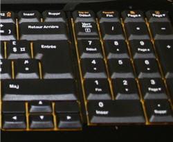 la disposition des touches sur le logitech notebook kit mk605