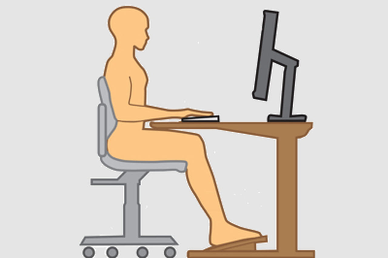 la posture parfaite dans un bureau idal