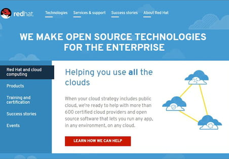 Red Hat, champion open source mondial du cloud hybride