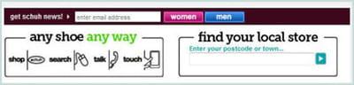 schuch propose directement une newsletter spécial 'homme' ou 'femme'