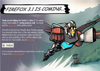 disponible aujourd'hui en beta 2, la version finale de firefox 3.1 devrait être