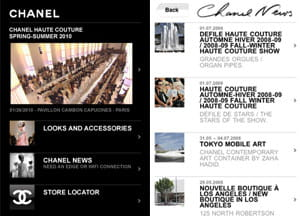 l'application iphone de chanel