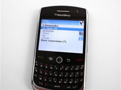 l'interface de la messagerie instantanée est sobre et pratique.