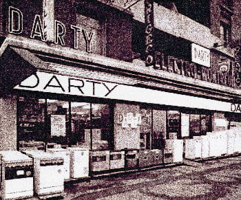 le premier magasin darty, porte de montreuil à paris.