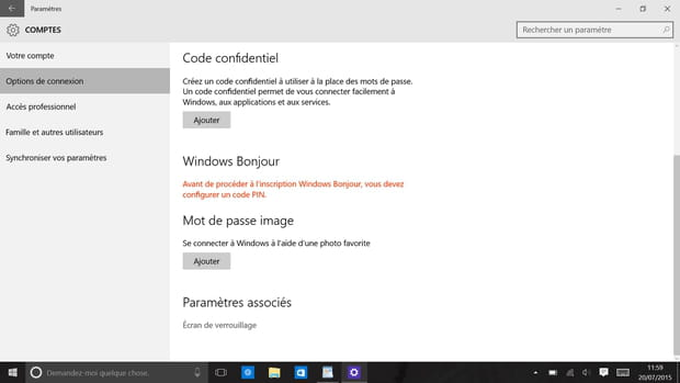 Windows Hello : l'authentification par reconnaissance d'iris ou faciale