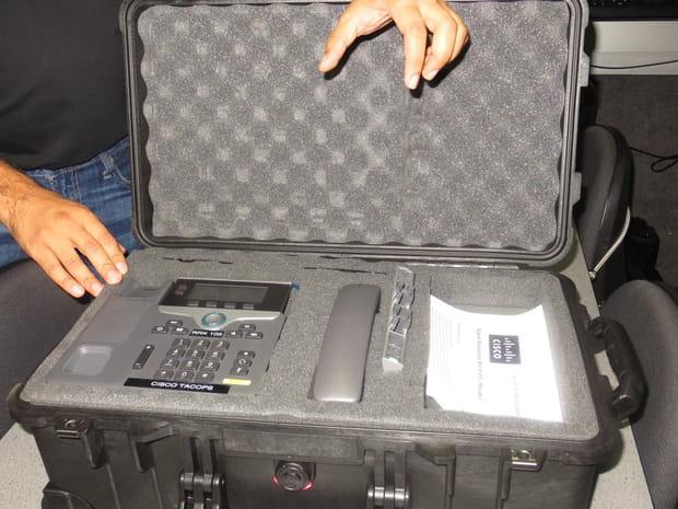 Un réseau transportable dans une valise