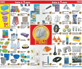 dans lesfoires à un euro, on trouve souvent des produits dont le vrai prix ne