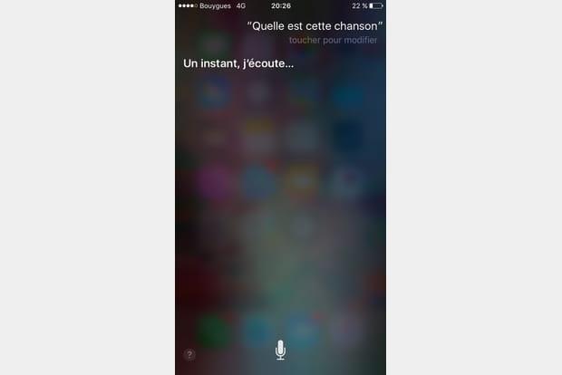 Identifier des chansons avec Siri