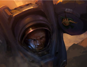 un artwork officiel d'un terran de starcraft 2