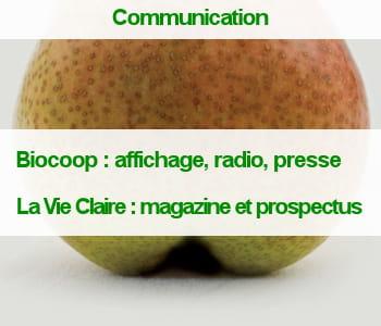 une affiche de la campagne biocoop : 'notre bio n'a rien à cacher'.