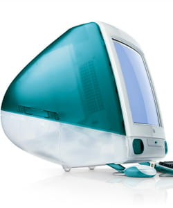 une couleur emblématique pour le premier imac d'apple.