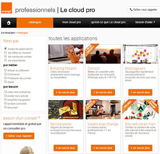portail du cloud pro d'orange.