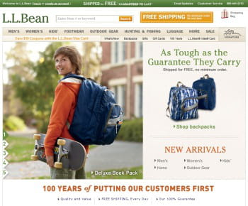 llbean.com est le 1er e-marchand us de la catégorie 'vêtements et accessoires'