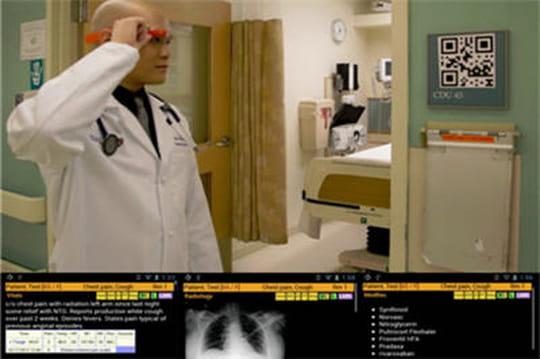 Les Google Glass utilisées à l'hôpital pour accéder aux données patients