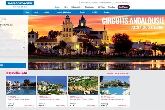 Havas Voyages : une interface qui agrège toute l'offre touristique du Web