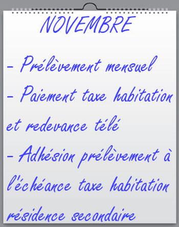 Novembre Taxe D 39 Habitation Et Redevance T L