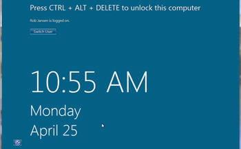 copie d'écran de la page d'accueil de windows 8 pré-béta