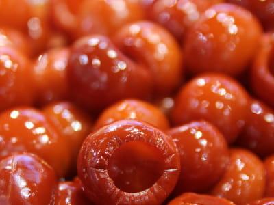 les mini poivrons sucrés à l'eau de rose de sicopa.