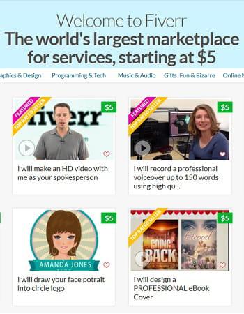 fiverr, une marketplace où tout est vendu 5$