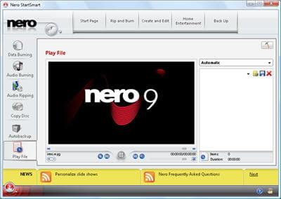 nero 9 est la référence des logiciels de gravure payant