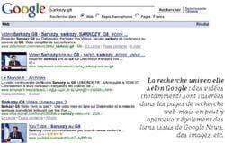 une page de résultats de google