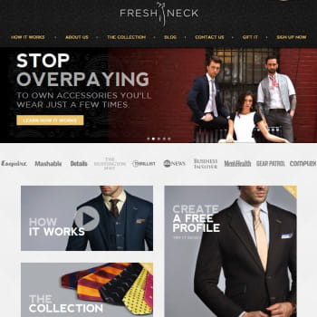freshneck, un club de location de cravates