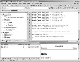 figure 28-5 interface principale de phpedit