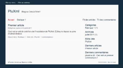 copie d'écran d'un site sous pluxml