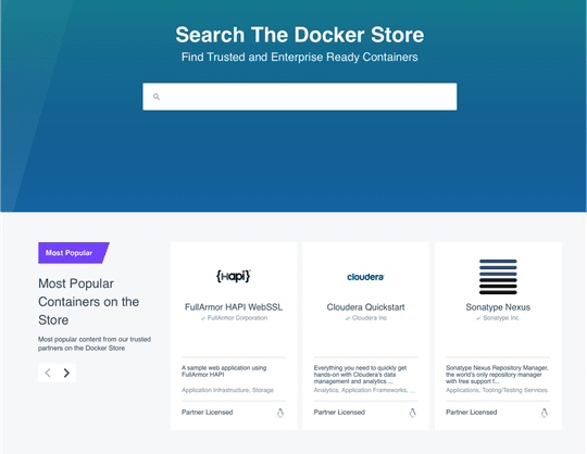 Docker Store : la nouvelle boutique d'applications made in Docker