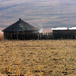 certaines zones de l'afrique du sud sont desséchées.