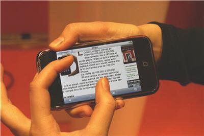 l'usage en entreprise de l'iphone est déconseillé par le cabinet forrester.