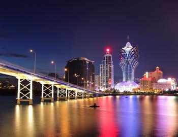 une vue de macao, capitale asiatique du jeu.