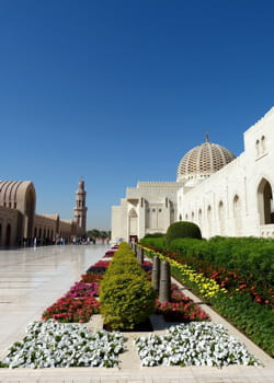 la grande mosquée du sultanat d'oman.