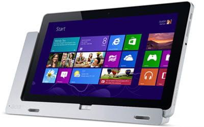 la tablette acer iconia w700 sera proposée à partir de 599 euros en france.