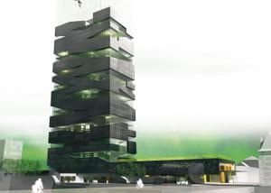 la 'tour vivante' vise à associer la production agricole, l'habitation et les