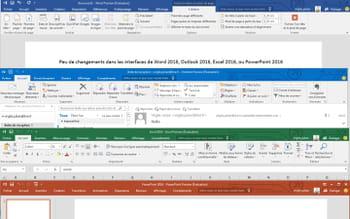 les utilisateurs d'office 2013 pourront observerquelques changements dansles